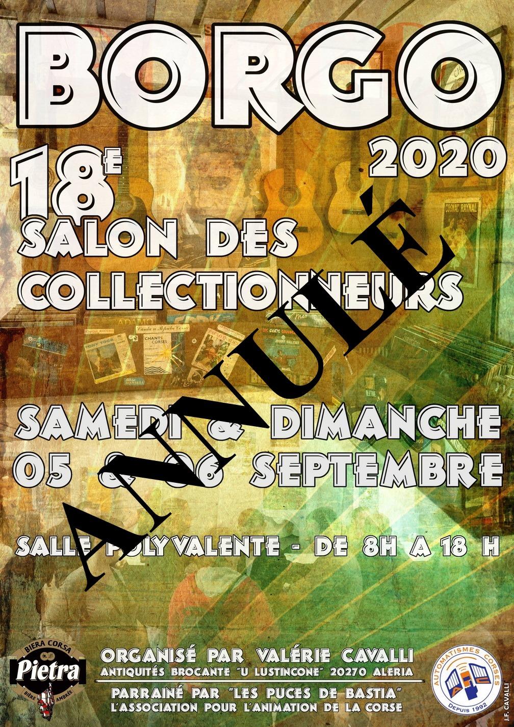 Covid-19 : le Salon des collectionneurs de Borgo annulé
