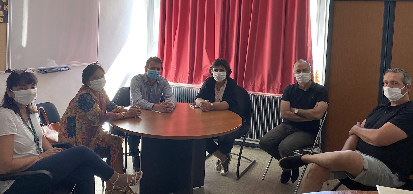 Au collège Giraud, une réunion rassemblait l'équipe pédagogique pour évoquer la rentrée des classes.