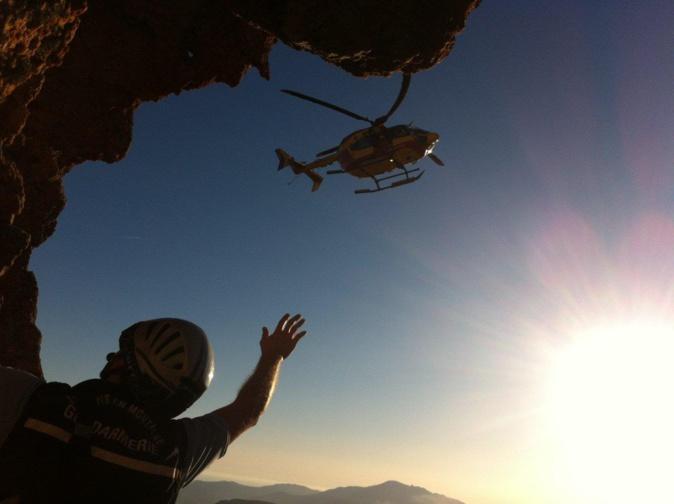 3 randonneurs secourus par le PGHM de Corse