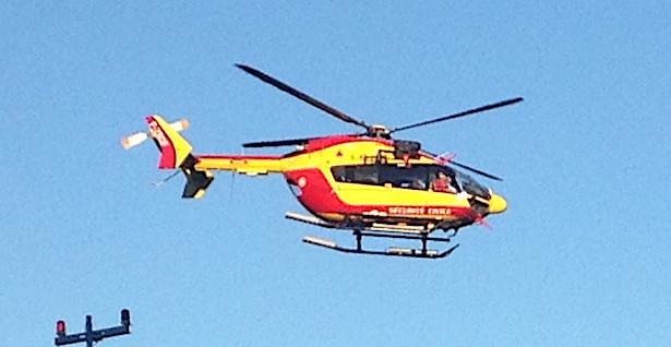 Lac de Melu : Un homme évacué par hélicoptère après une chute