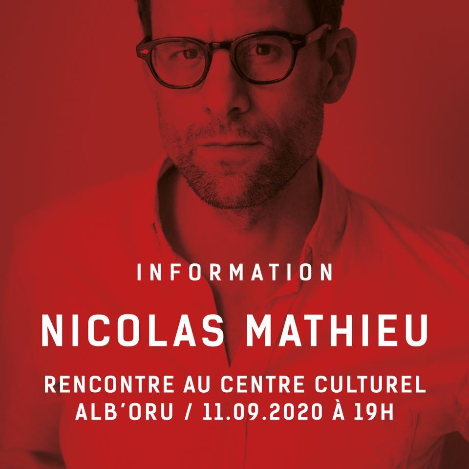 Libri Mondi : Nicolas Mathieu à L'Alb'oru