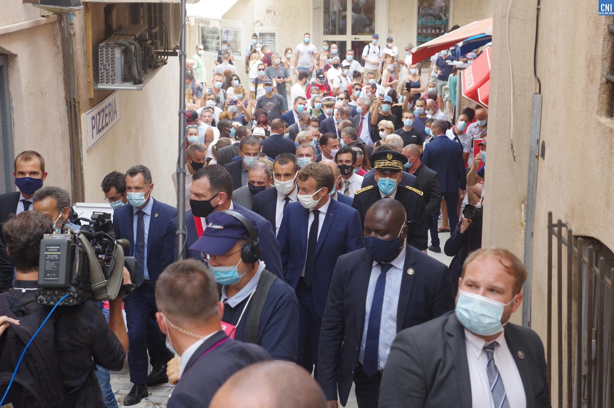 IMAGES - D'Ajaccio à Bonifacio le déplacement du président de la République en Corse-du-Sud