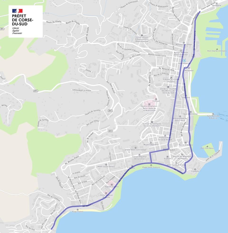 Covid-19 - Port du masque obligatoire à Ajaccio : nouveaux secteurs concernés