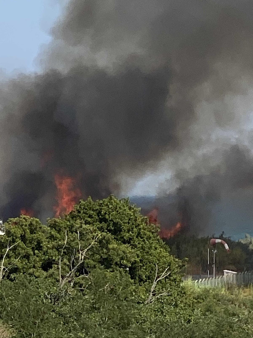 Bastia : un incendie éclate à proximité de station de gaz de l'Arinella
