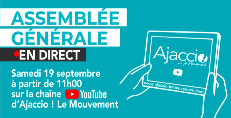 L'assemblée générale d'Ajaccio ! Le Mouvement diffusée sur YouTube