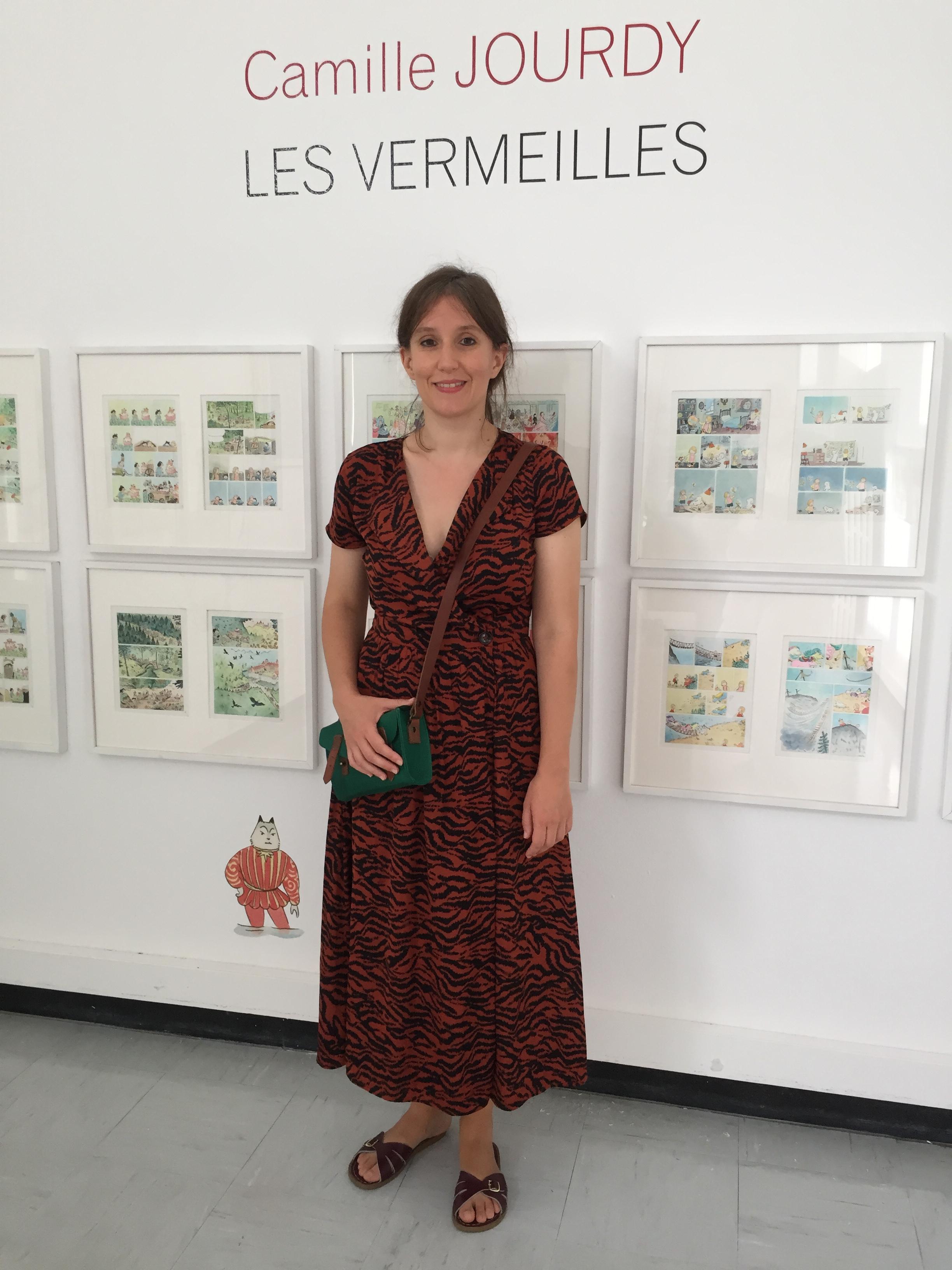 Camille Jourdy expose ses planches originales à la bibliothèque centrale de Bastia