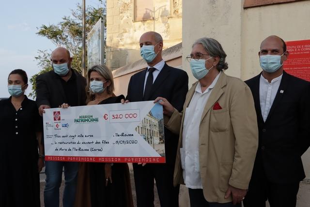 Un chèque de 320 000€ pour la réhabilitation du couvent des filles de Marie de l'Ile-Rousse