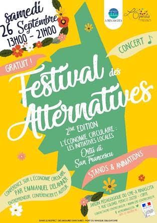 Corte : le Festival des Alternatives c'est le 26 septembre