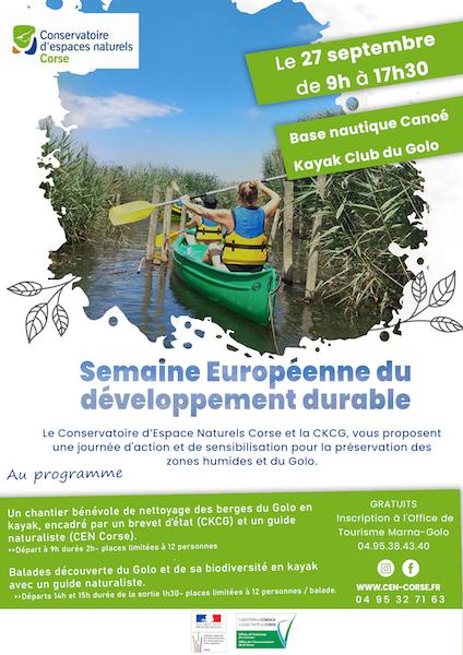 Découvrez le patrimoine naturel du plus long fleuve de Corse lors de la semaine Européene du développement durable !