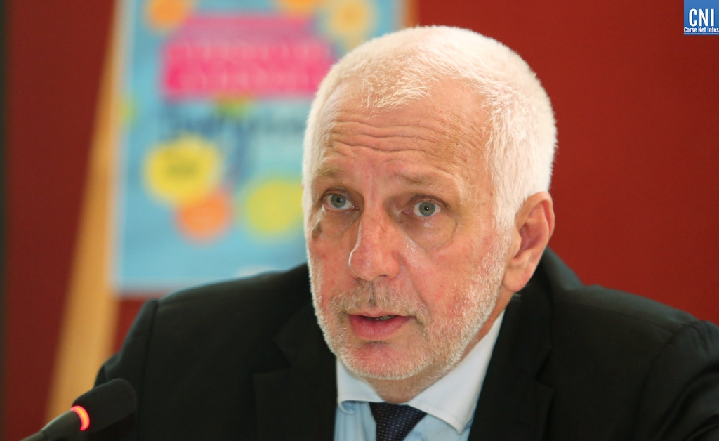 Saveriu Luciani, conseiller exécutif en charge de la langue corse