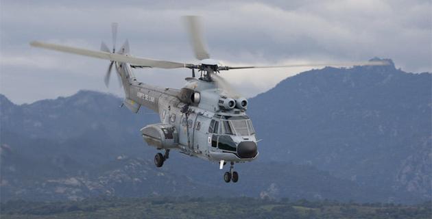 Le Puma de l'armée de l'air a survolé la zone