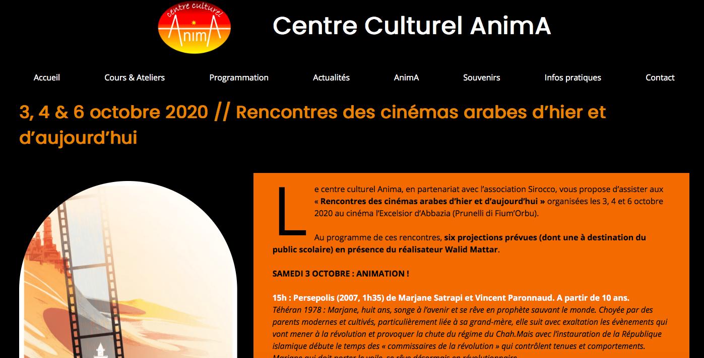 Prunelli di Fium'Orbu : les Rencontres des cinémas arabes d'hier et d'aujourd'hui c'est ce weekend