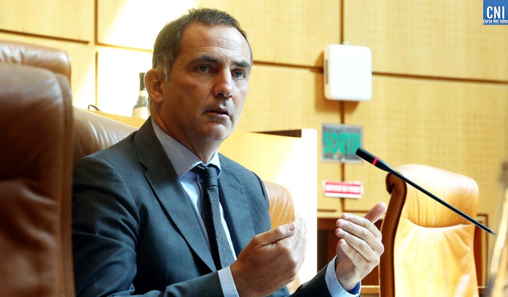 Le président du Conseil exécutif de la Collectivité de Corse, Gilles Simeoni. Photo Michel Luccioni.