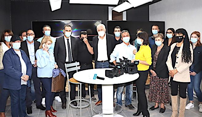 Vià Télé Paese dans ses nouveaux locaux (Photos Gilbert Guizol)
