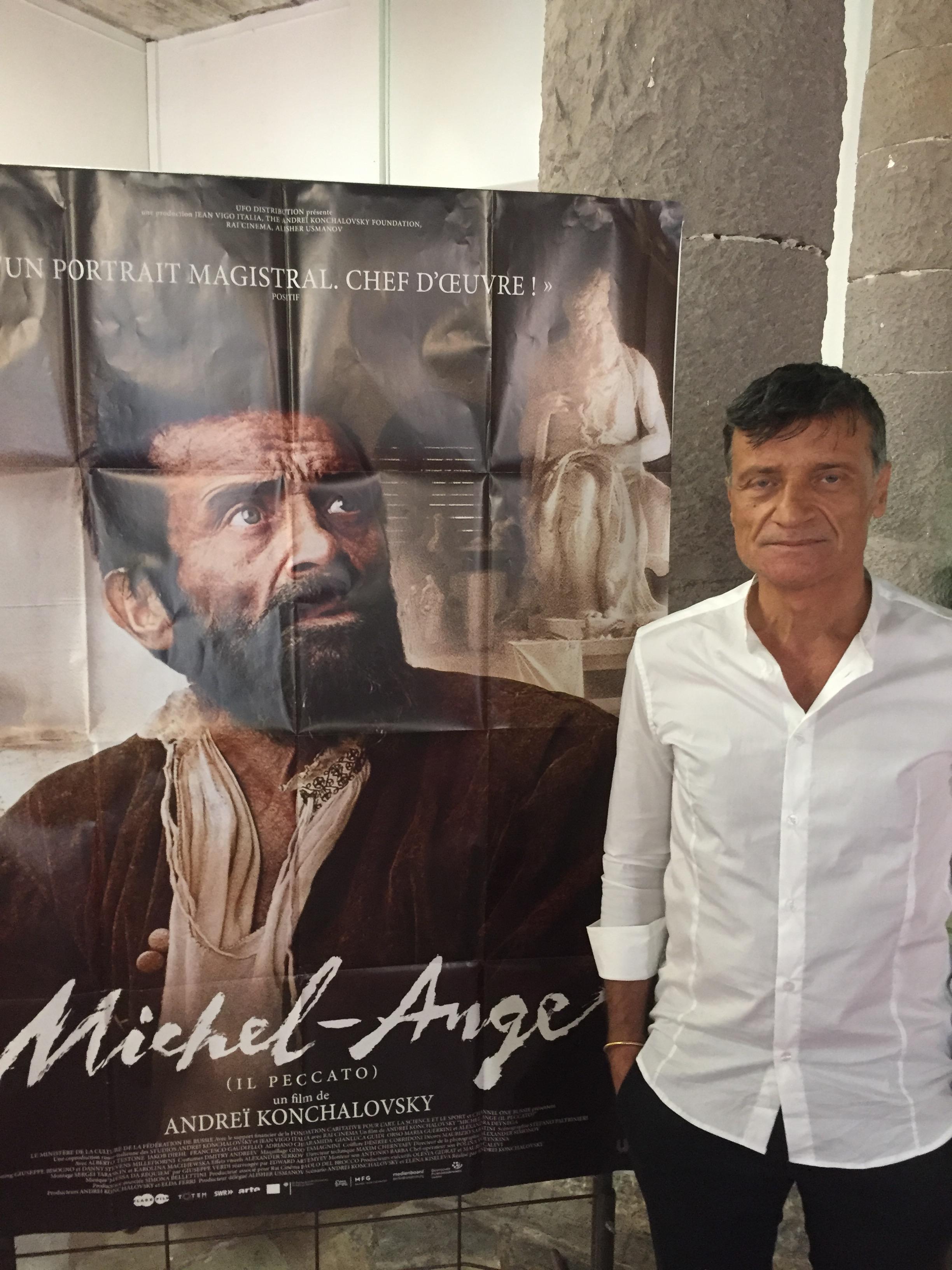 Alberto Testone, Michel-Ange dans le long métrage du réalisateur russe Andreï Konchalovsky.