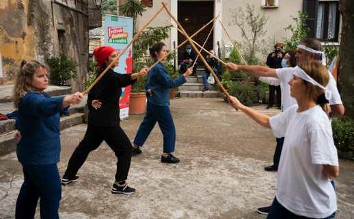 Samedi dernier, clap de départ du festival à U Viscuvatu. Photo JB Andreani.