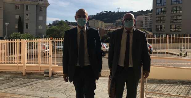 Pierre Moscovici, Premier président de la Cour des comptes, et Jacques Delmas, président de la Chambre régionale des comptes de Corse.
