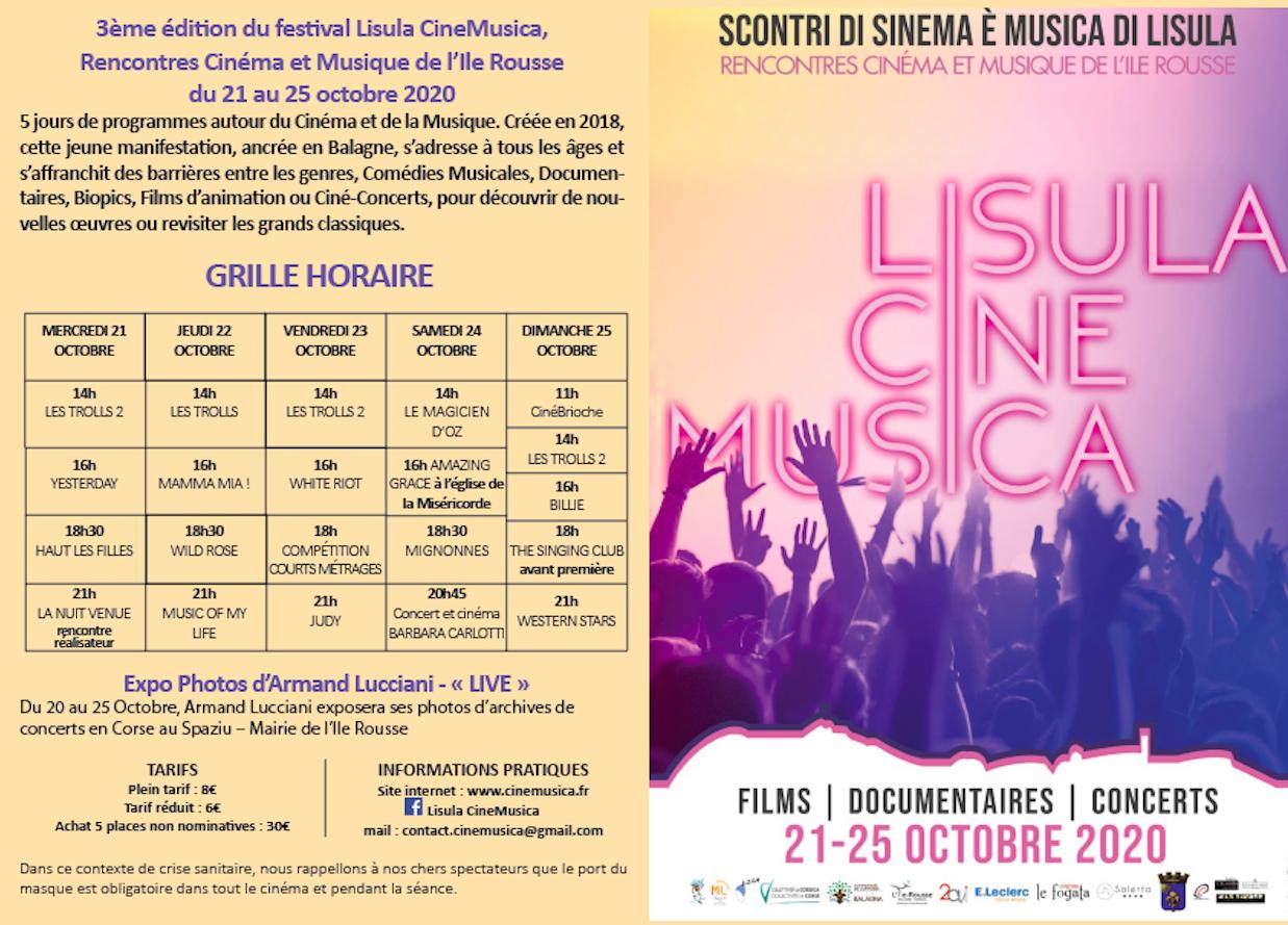Lisula : de belles têtes d'affiche pour la 3e édition de CineMusica