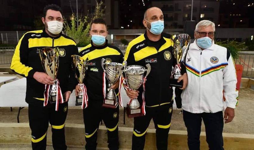 La triplette corse Dionisi, Philipson, Sauvage remporte l'international de pétanque à Monaco