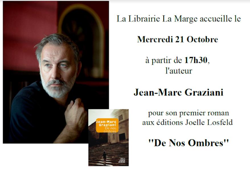 """Livres : Jean-Marc Graziani présente """"De Nos Ombres"""" à Ajaccio"""
