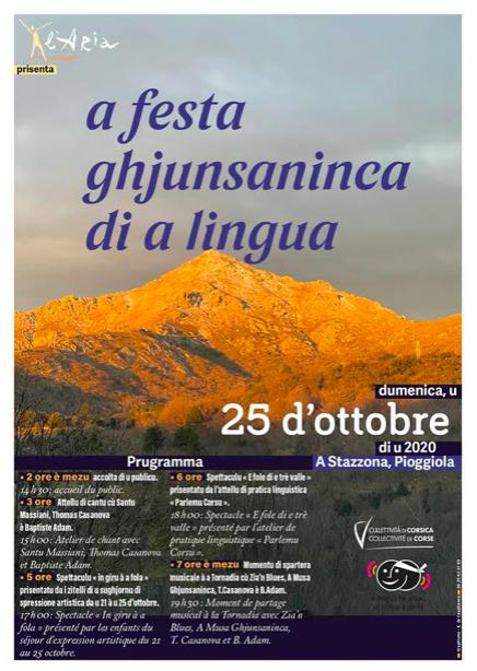 Festa di a lingua dimanche 25 octobre à A Stazzona Pioggiola