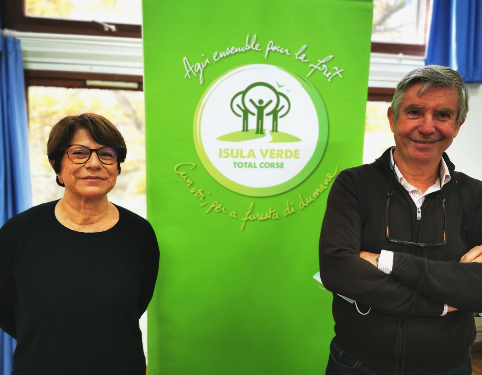 Marie-Noëlle Leonelli, présidente de Total Corse, et Pascal Vivarelli, président de l'ADPEP 2B, ont signé une nouvelle convention