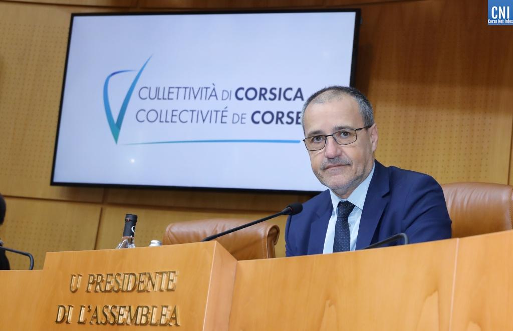 Jean-Guy Talamoni, Presidente di l'Assemblea di Corsica. Photo Michel Luccioni