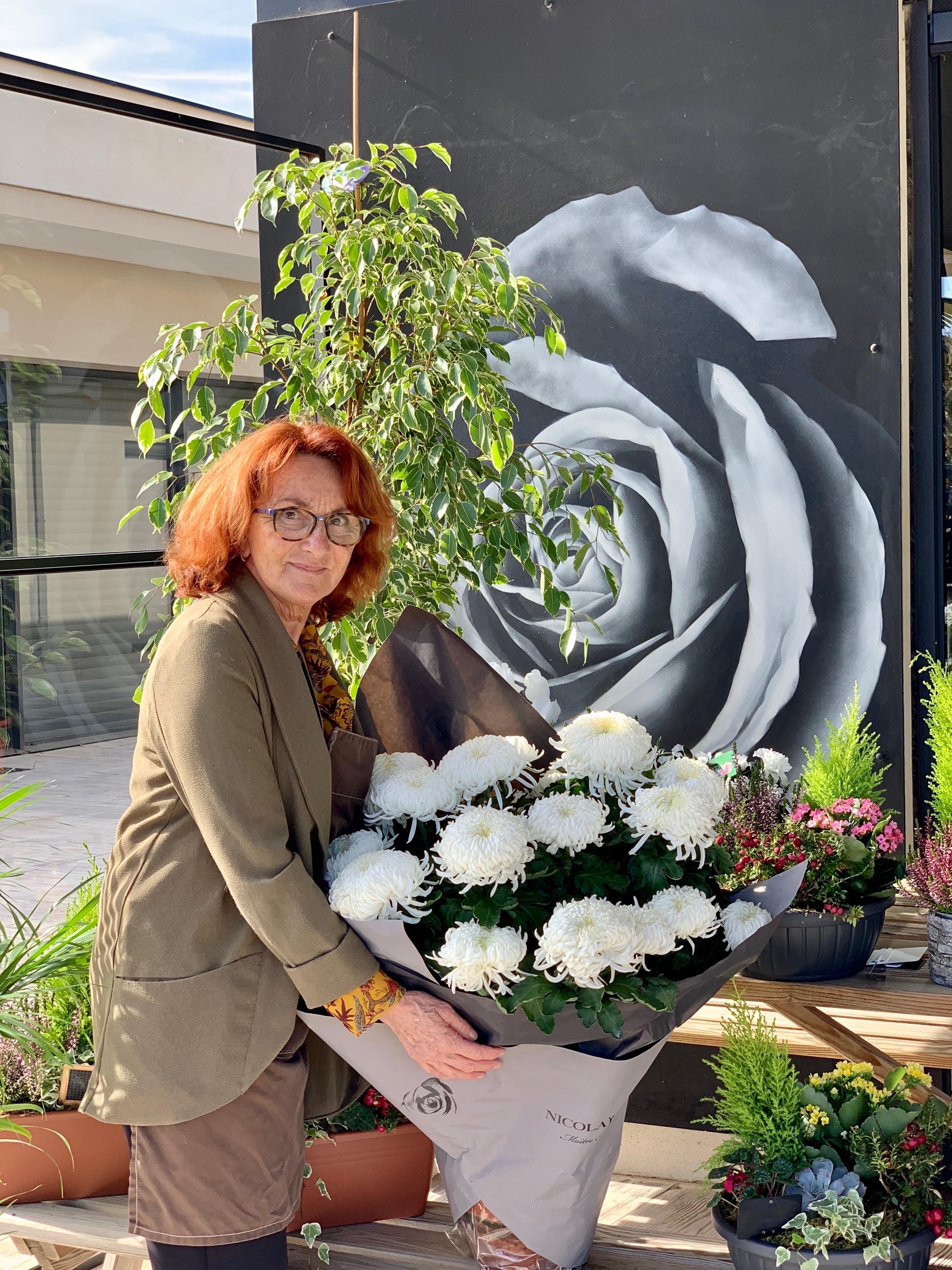 Louise Nicolaï, fleuriste, présidente de l'U2P de corse