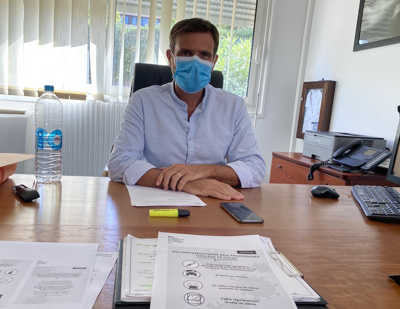 Jean-Martin Mondoloni, proviseur du lycée Giocante de Casabianca de Bastia