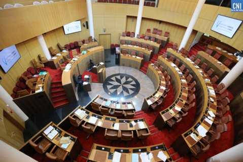 Hemicycle de l'Assemblée de Corse. Photo Michel Luccioni.