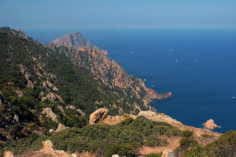 La photo du jour : les falaises de granit rouge de Capu Rossu