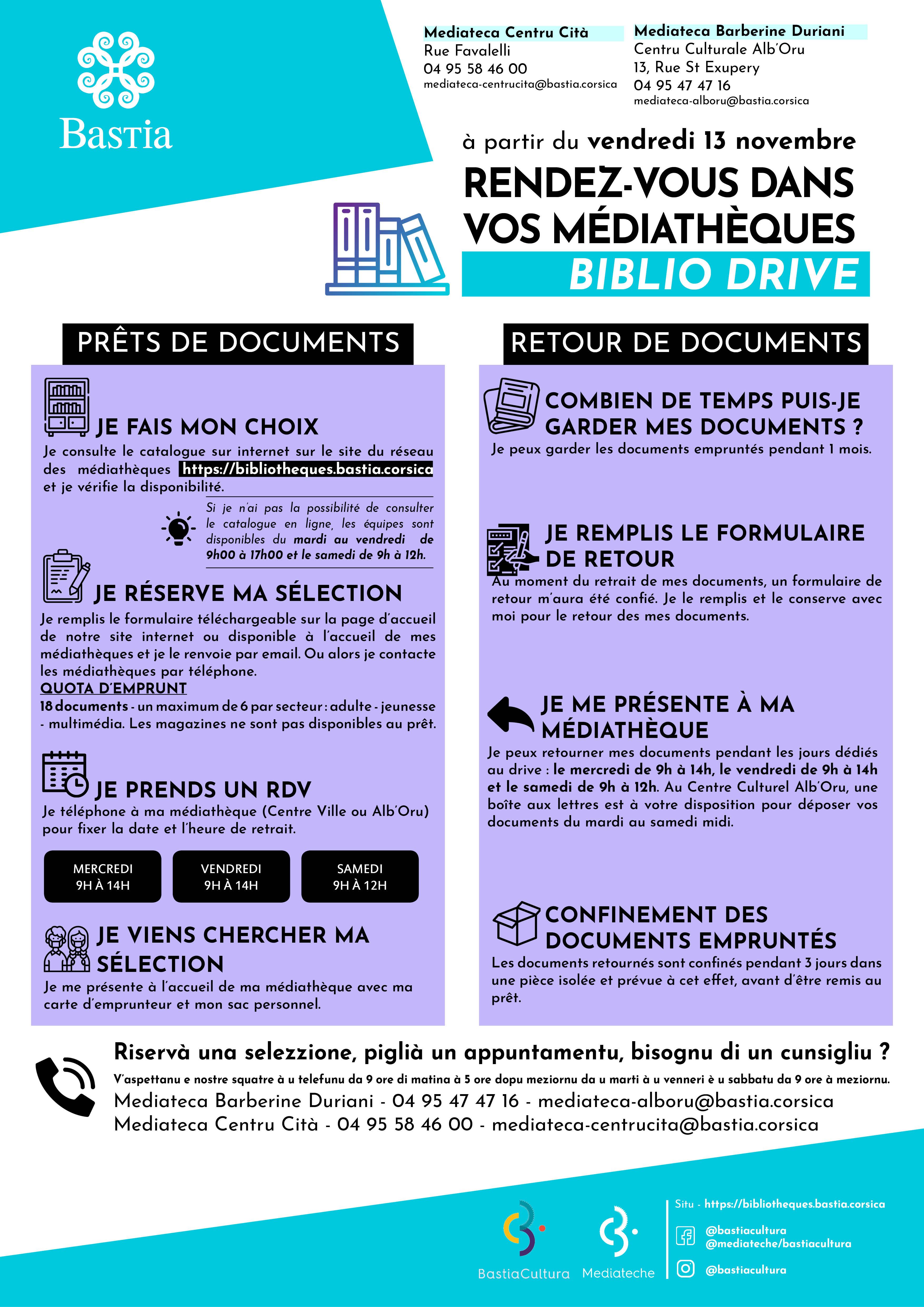 Bastia : les médiathèques municipales reprennent du service en drive