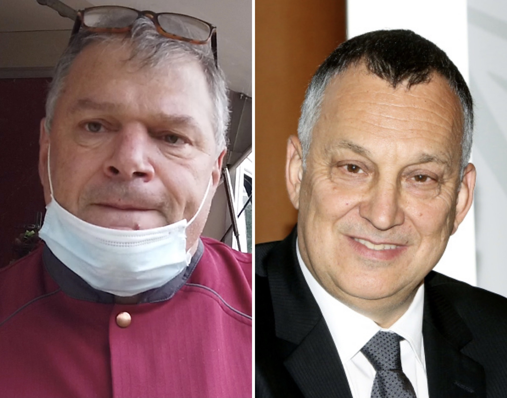 Jean-Charles Martinelli, président de la Chambre de Métiers de l'Artisanat de Haute-Corse et de Corse et Paul Marcaggi, président de la Chambre de Commerce et d'Industrie (CCI) de Corse-du-Sud
