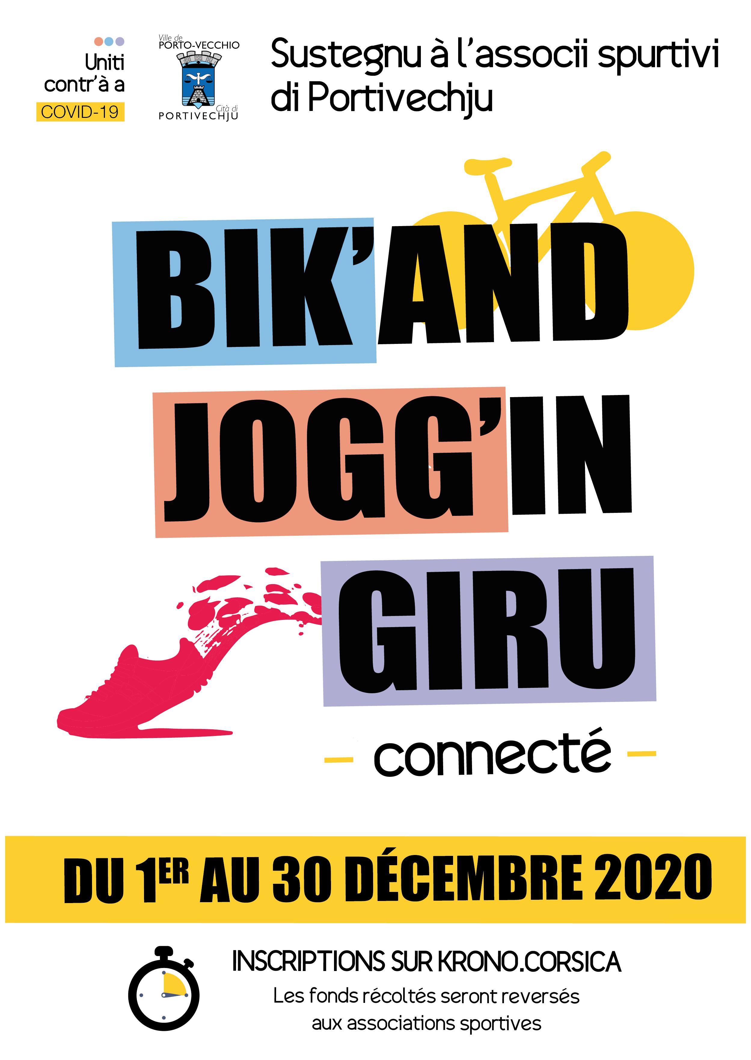 Bik'and Jogg'in Giru in Portivechju : un challenge pour soutenir les associations sportives de la ville