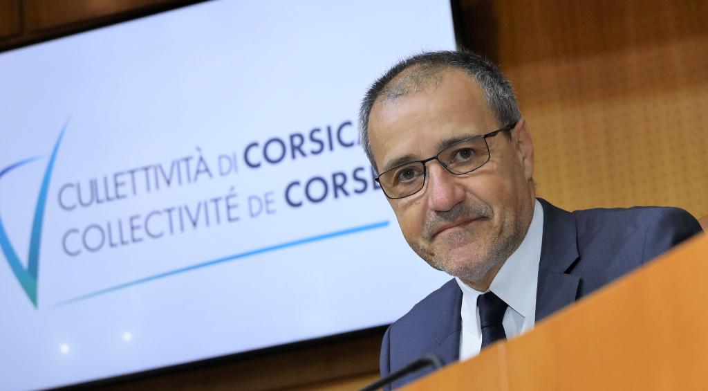 Jean-Guy Talamoni, président de l'Assemblée de Corse. Photo d'archive Michel Luccioni.