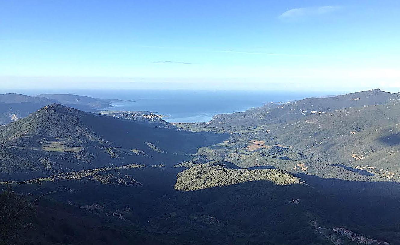 Le Valinco vu des hauteurs de Fozzano (Photo Jean-Baptiste Vannier)