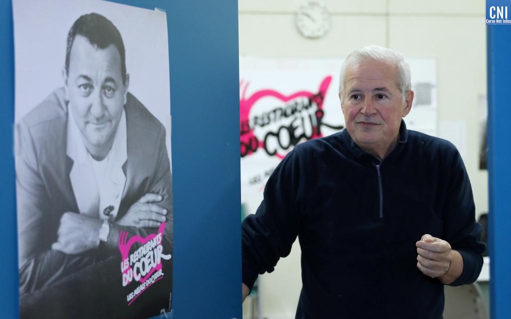 Le président des Restos du Coeur de Corse-du-Sud Raymond Ceccaldi (Photo Michel Luccioni)