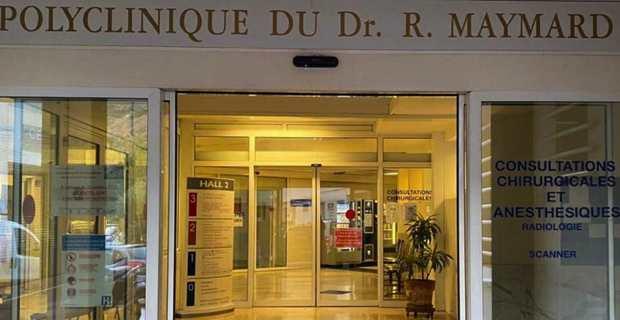 L'entrée de la polyclinique Maymard à Bastia.