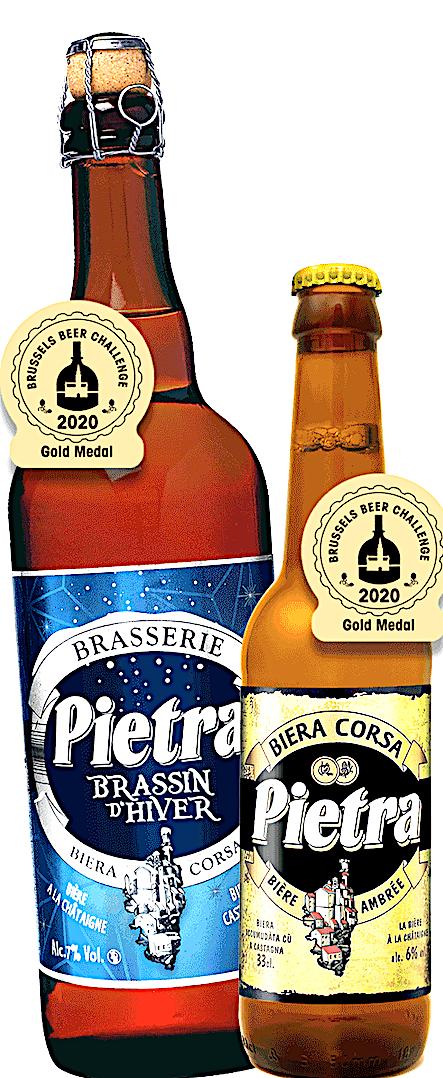 """Deux nouvelles médailles d'or pour la Brasserie Pietra au """"Brussels challenge beer 2020"""""""