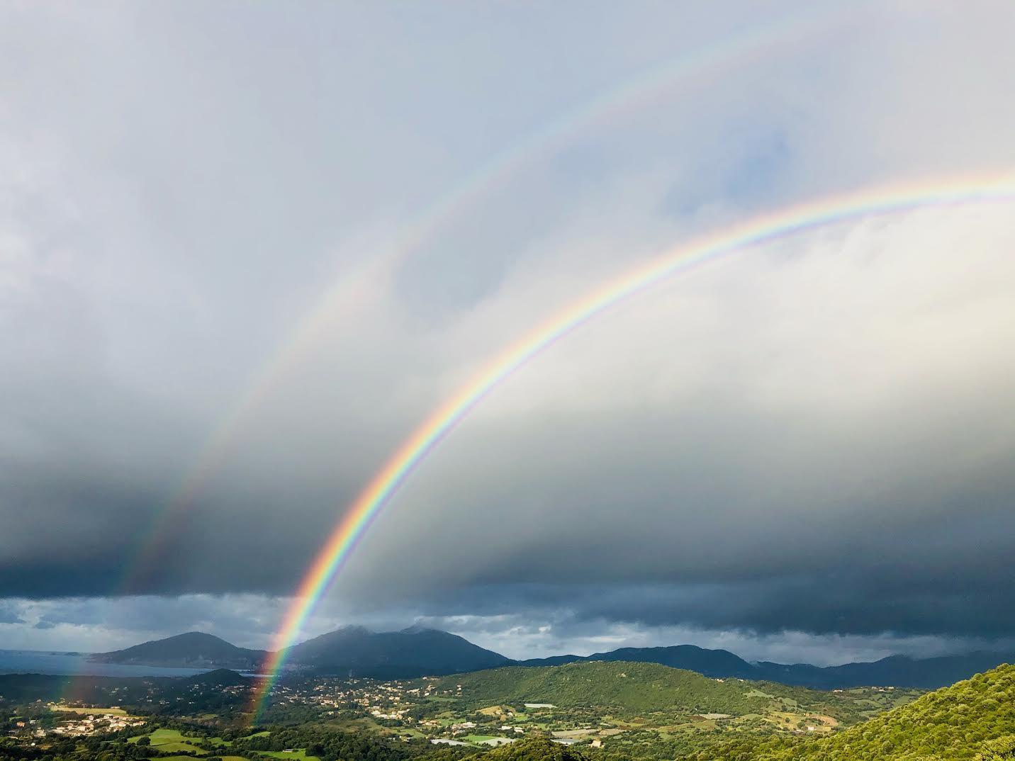 Arc en ciel vu depuis d'Eccica-Suarella (Claudine Rossi)