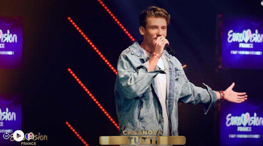 Casanova, pourrait représenter la Corse à l'Eurovision. Photo France télévision.