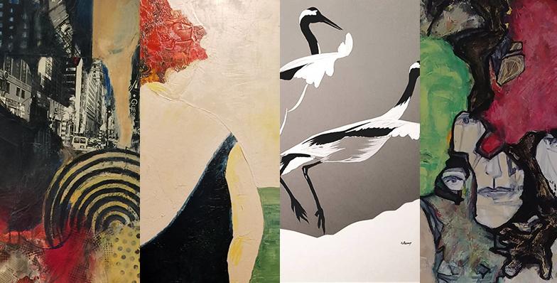 Andria - Cathy Barthelemy - Celia Graziani - Chantal Pantanacce exposent plusieurs de leurs réalisations
