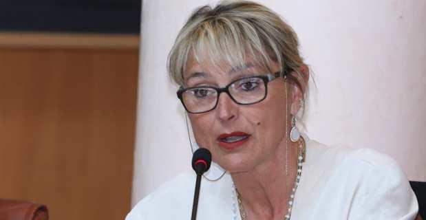 Sandra Duval, conseillère municipale de Propriano, conseillère communautaire du Sartenais-Valinco-Taravo et conseillère territoriale du groupe Per L'Avvene, en session à l'Assemblée de Corse. Photo Michel Luccioni.