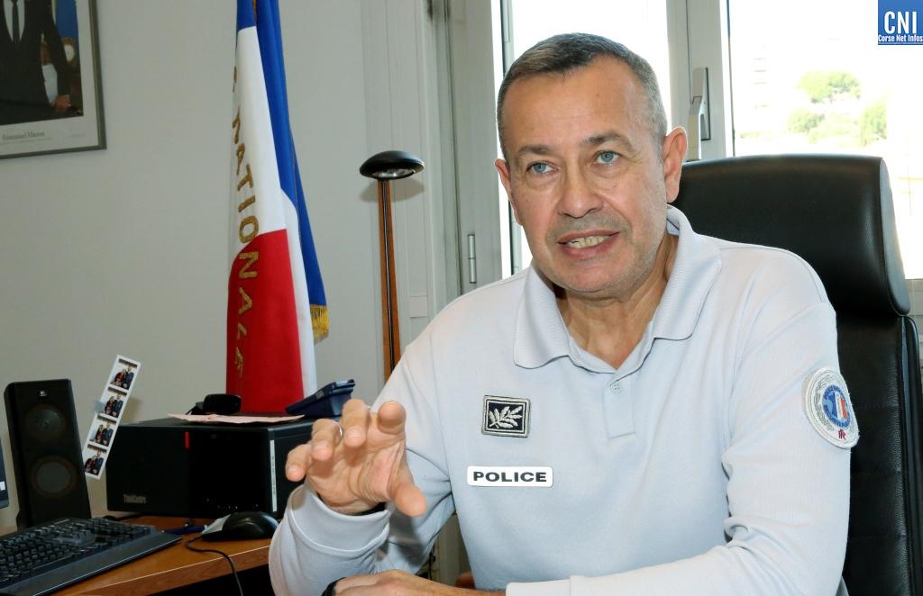 Éric Cluzeau, nouveau directeur départemental de la sécurité publique de Corse-du-Sud. Photo : Michel Luccioni