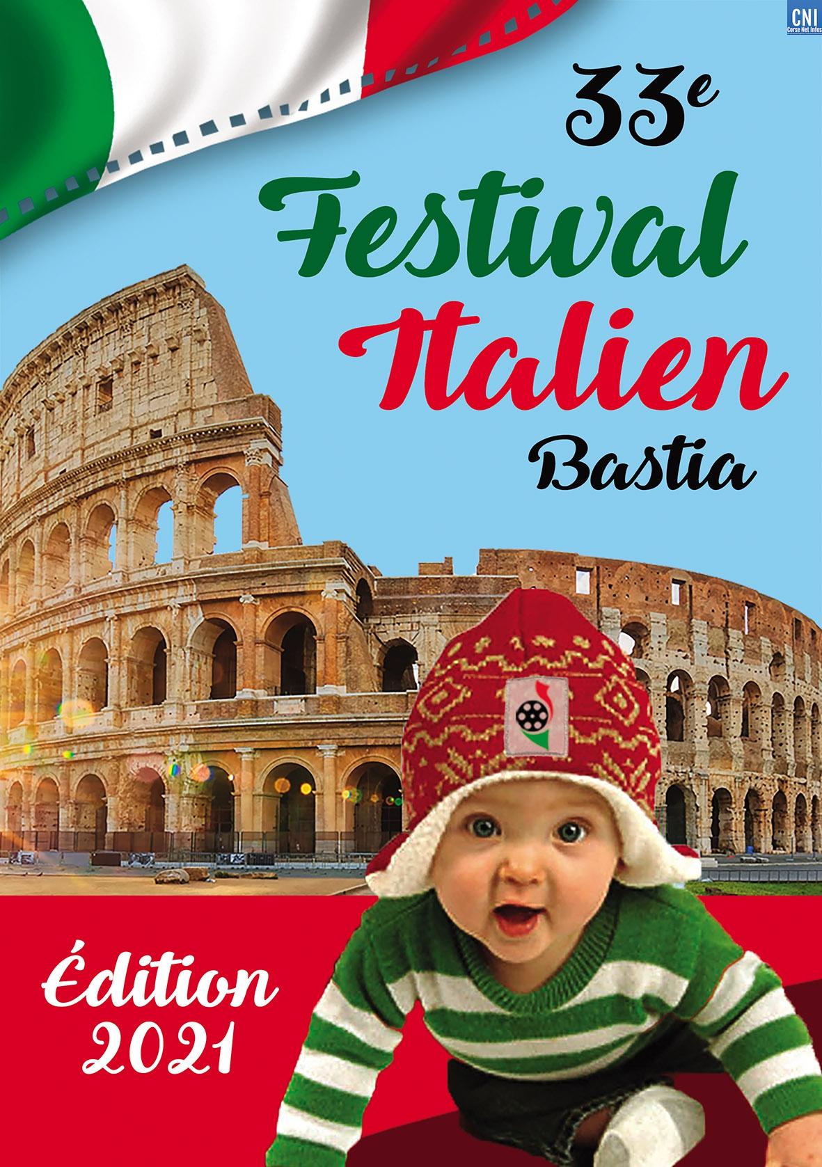 L'affiche de l'édition 2021 du Festival du Cinéma Italien de Bastia