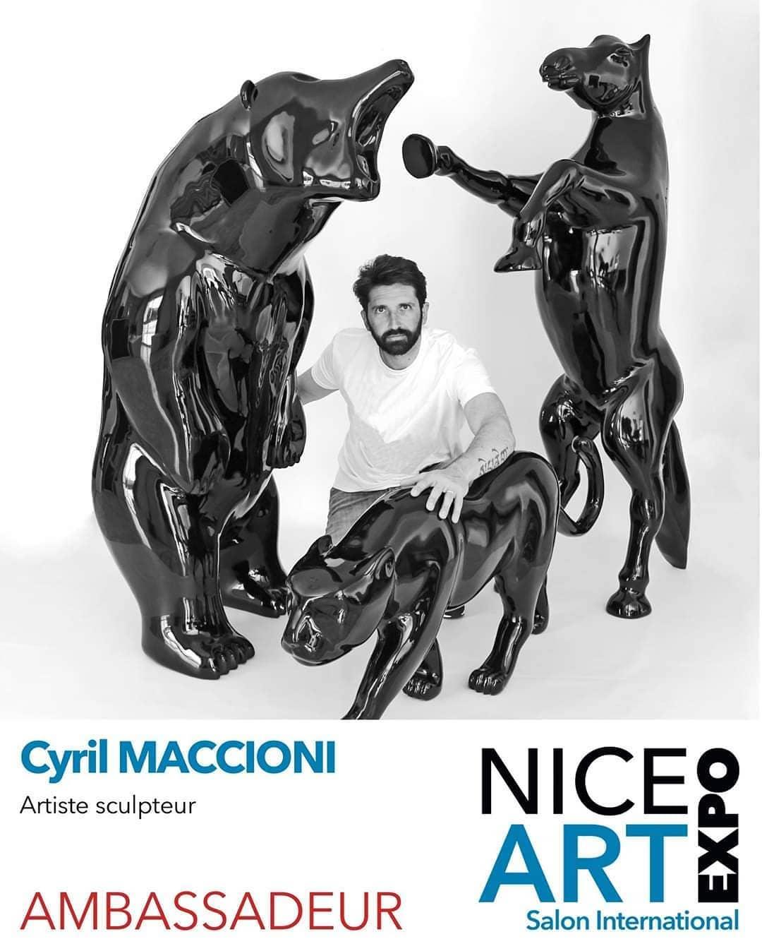Cyril Maccioni sera présent au salon d'art contemporain Art Nice Expo du 9 au 11 avril 2021.