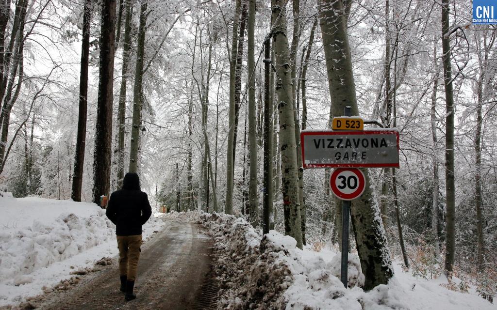 EN IMAGES - Vizzavona sous la neige
