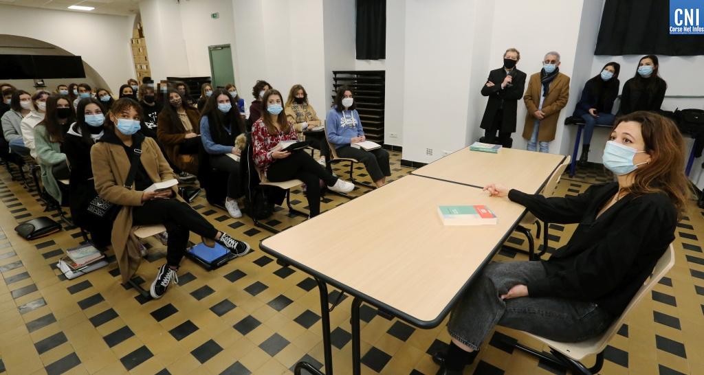 Francesca Serra à la rencontre des élèves du lycée Fesch d'Ajaccio