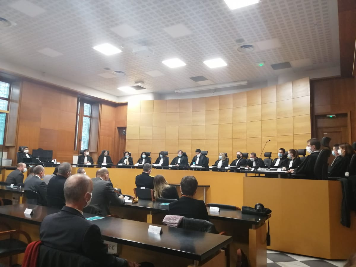 Le président du tribunal Jean-Bastien Risson était entouré de l'ensemble des magistrats du tribunal judiciaire de Bastia pour cette audience solennelle de rentrée.