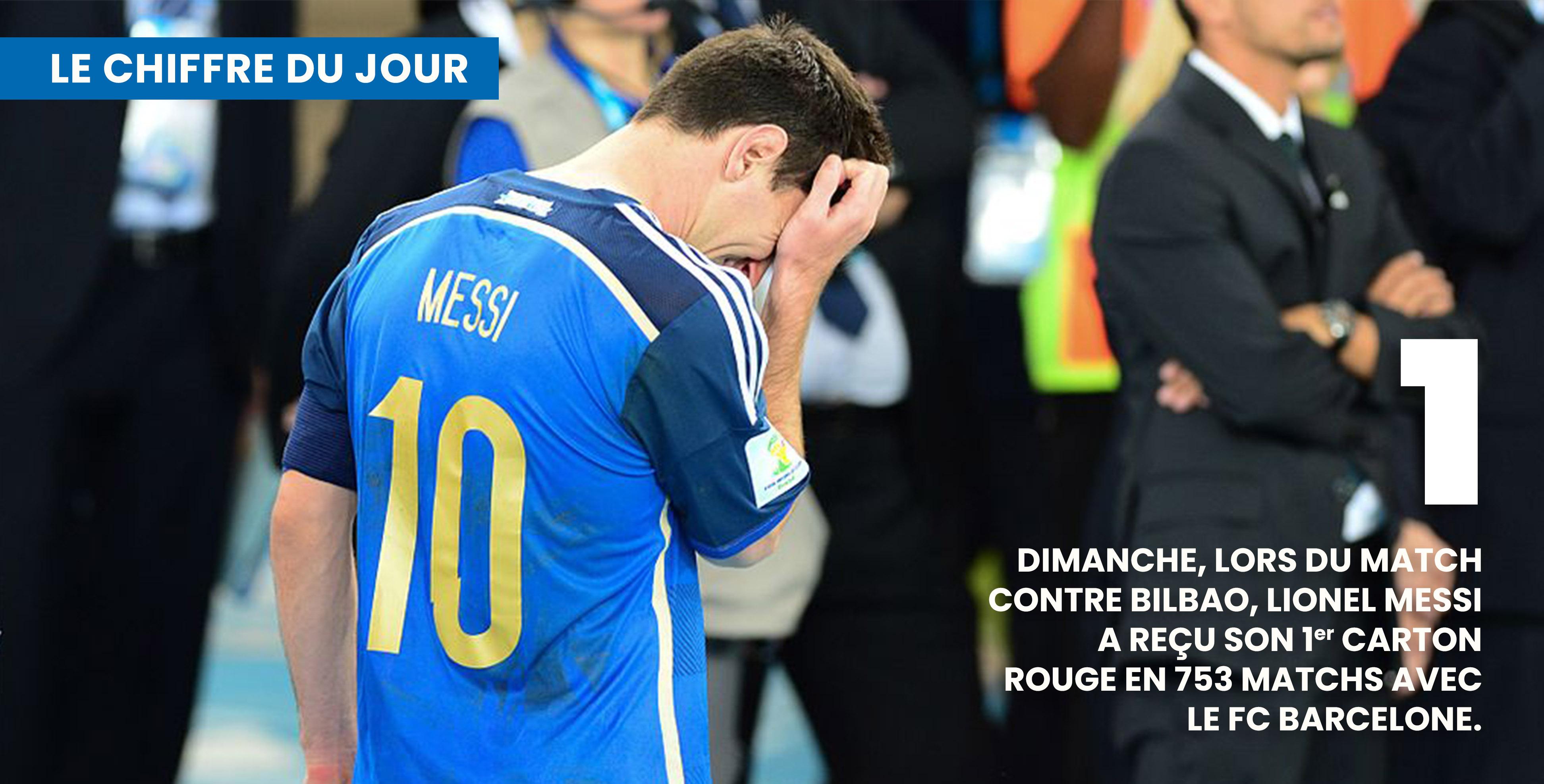 """Dimanche, Messi a vu rouge. Une saison difficile pour """"la pulga"""" © DR"""